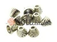 Tip bell point plastic nickel 10 mm* 10 mm, cord d= 4 mm, 10 pcs