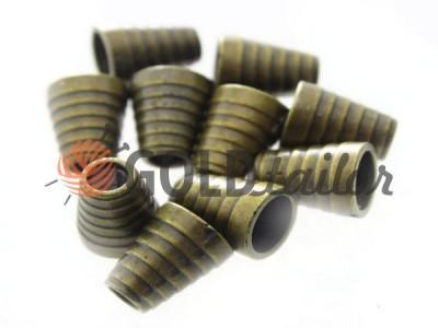 Купити накінечник Дзвіночок-Ялинка 14мм*11мм антик під шнур d = 5 мм оптом і вроздріб