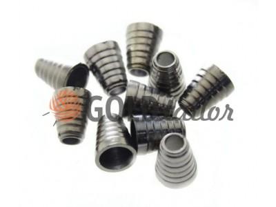 Купити накінечник Дзвіночок-Ялинка 14мм*11мм темний нікель під шнур d = 5 мм оптом і вроздріб