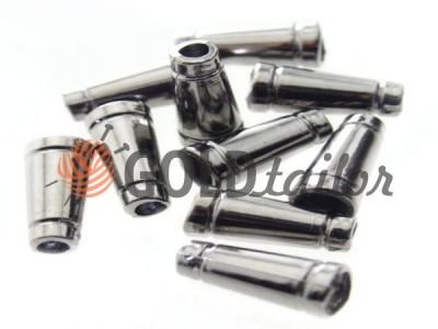 Купити накінечник Дзвіночок-Тубус 19мм*11мм темний нікель під шнур d = 4 мм оптом і вроздріб