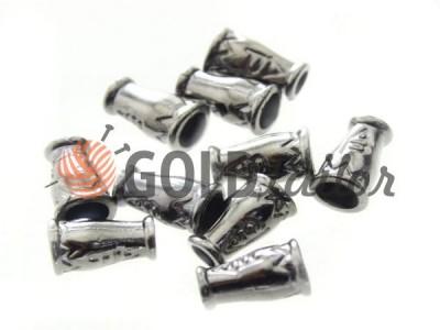 Купити накінечник Дзвіночок-ap 14мм*9мм темний нікель під шнур d = 4 мм оптом і вроздріб