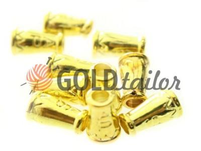 Купити накінечник Дзвіночок-ap 14мм*9мм золото під шнур d = 4 мм оптом і вроздріб