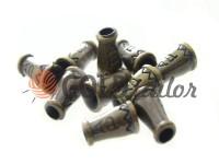 Tip bell ap plastic antique 14 mm* 9 mm, cord d= 4 mm, 10 pcs