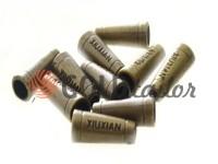 Кінцевик пластиковий Xiuxian 20 мм*8 мм антик, під шнур d= 4 мм, 10 шт