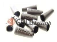 Кінцевик пластиковий Xiuxian 20 мм*8 мм темний нікель, під шнур d= 4 мм, 10 шт
