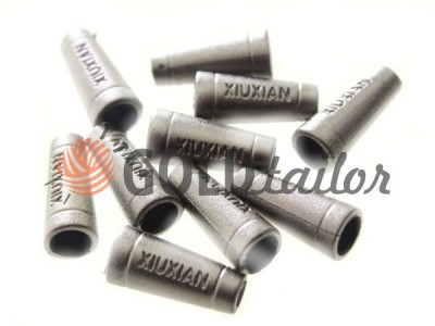Купить наконечник Xiuxian 20мм*8мм темный никель под шнур d=4 мм оптом и розницу