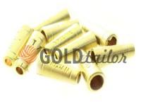 Кінцевик пластиковий Xiuxian 20 мм*8 мм золото, під шнур d= 4 мм, 10 шт