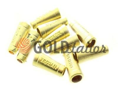 Купити накінечник Xiuxian 20мм*8мм золото під шнур d = 4 мм оптом і вроздріб