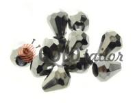Кінцевик пластиковий Drop 11 мм*9 мм темний нікель, під шнур d= 3 мм, 10 шт