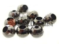 Кінцевик пластиковий Disco 10 мм*10 мм темний нікель, під шнур d= 3 мм, 10 шт