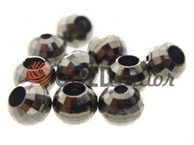 Купити накінечник Disco 13 мм* 6 мм темний нікель під шнур d = 3 мм оптом і вроздріб