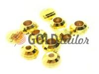 Кінцевик пластиковий Disco 10 мм*10 мм золото, під шнур d= 3 мм, 10 шт