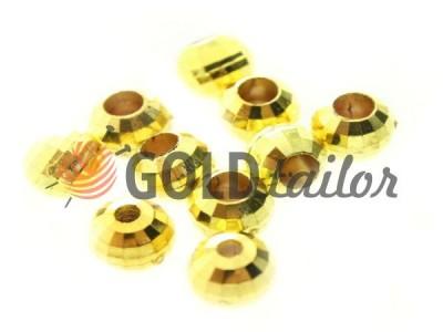 Купити накінечник Disco 13 мм* 6 мм золото під шнур d = 3 мм оптом і вроздріб