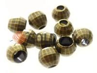 Кінцевик пластиковий Disco 13 мм*13 мм антик, під шнур d= 5 мм, 10 шт