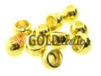 Кінцевик пластиковий Circle 8 мм*8 мм золото, під шнур d= 3 мм, 10 шт