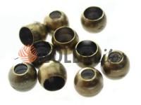 Кінцевик пластиковий Circle 8 мм*8 мм антик, під шнур d= 3 мм, 10 шт