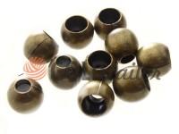 Кінцевик пластиковий Circle 12 мм*12 мм антик, під шнур d= 5 мм, 10 шт