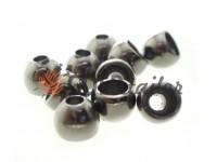 Кінцевик пластиковий Circle 8 мм*8 мм темний нікель, під шнур d= 3 мм, 10 шт