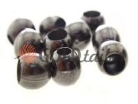 Кінцевик пластиковий Circle 12 мм*12 мм темний нікель, під шнур d= 5 мм, 10 шт