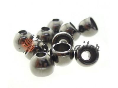 Купити накінечник Circle 8мм*8мм темний нікель під шнур d = 3 мм оптом і вроздріб