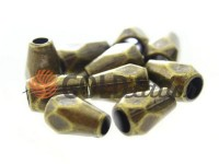 Кінцевик пластиковий Gran 12 мм*8 мм антик, під шнур d= 3 мм, 10 шт