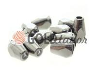 Кінцевик пластиковий Gran 12 мм*8 мм темний нікель, під шнур d= 3 мм, 10 шт
