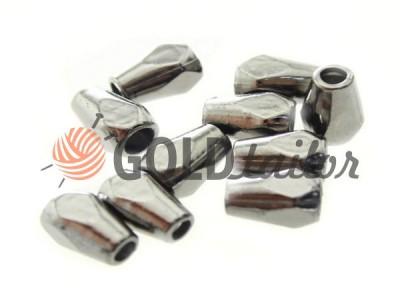 Купити накінечник Gran 12мм*8мм темний нікель під шнур d = 3 мм оптом і вроздріб