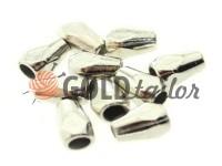 Кінцевик пластиковий Gran 12 мм*8 мм нікель, під шнур d= 3 мм, 10 шт