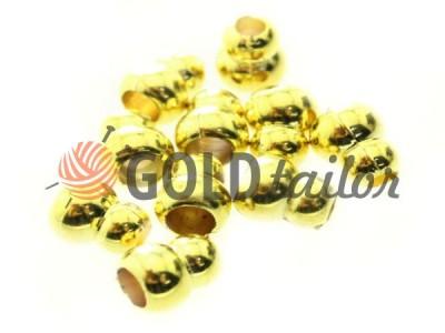 Купити накінечник Snowman 12мм*10мм золото під шнур d = 4 мм оптом і вроздріб