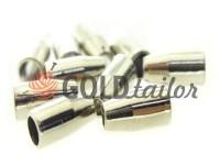 Tip bell small plastic nickel 13 mm* 6 mm, cord d= 3 mm, 10 pcs