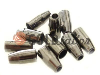 Купити накінечник Дзвіночок малий 13 мм* 6 мм темний нікель під шнур d = 3 мм оптом і вроздріб