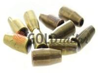 Tip bell small plastic antique 13 mm* 6 mm, cord d= 3 mm, 10 pcs