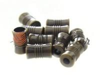Кінцевик пластиковий Бочонок рифлений 7 мм*12 мм антик, під шнур d= 4 мм, 10 шт