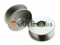 Spool for industrial sewing machine aluminum knurled