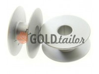 Spool for industrial sewing machine aluminum not knurled