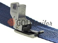 Foot industrial metal L1/32N for topstitching along the edge of the fabric