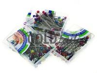 Набір шпильок кравецьких з кольоровими вушками в коробці 80 шт