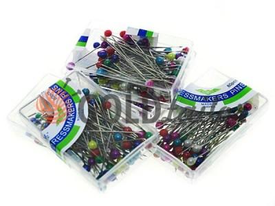 Купити Набір шпильок кравецьких з кольоровими вушками в коробці 80 шт оптом