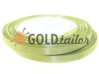 Action - Satin ribbon 7mm, light olive, length 25 m, purchase 1 Babin without registration