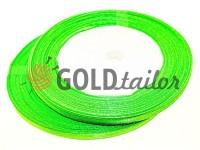 Стрічка атласна 7 мм, колір весняної зеленні, довжина 25 м