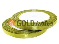 Satin Tape 7mm, color dark khaki, length 25 m