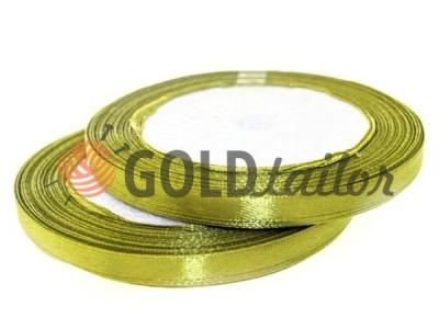 Action - Satin ribbon 7mm, dark khaki, length 25 m, purchase 1 Babin without registration