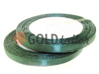 Satin Tape 7mm, color dark forestgreen, length 25 m