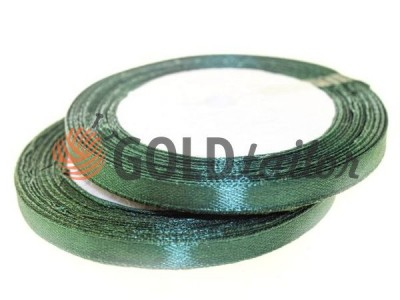 Action - Satin ribbon 7mm, dark forestgreen, length 25 m, purchase 1 Babin without registration