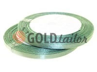 Satin Tape 7mm, color dark seagreen, length 25 m