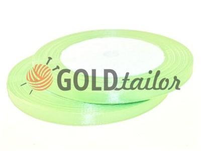 Акция - Лента атласная 7 мм, цвет бледно-зеленый, длина 25 м, купить от 1 бабины без регистрации