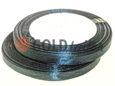 Акция - Лента атласная 7 мм, цвет черный, длина 25 м, купить от 1 бабины без регистрации