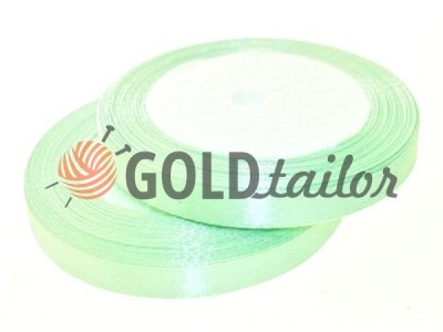 Action - Satin ribbon 7mm, medium spring green, length 25 m, purchase 1 Babin without registration