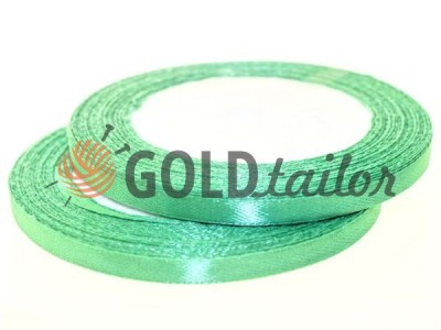 Action - Satin ribbon 7mm, green, length 25 m, purchase 1 Babin without registration