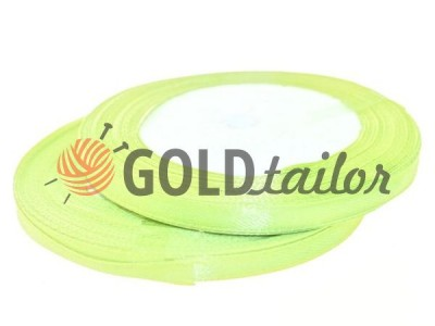 Action - Satin ribbon 7mm, greenyellow, length 25 m, purchase 1 Babin without registration